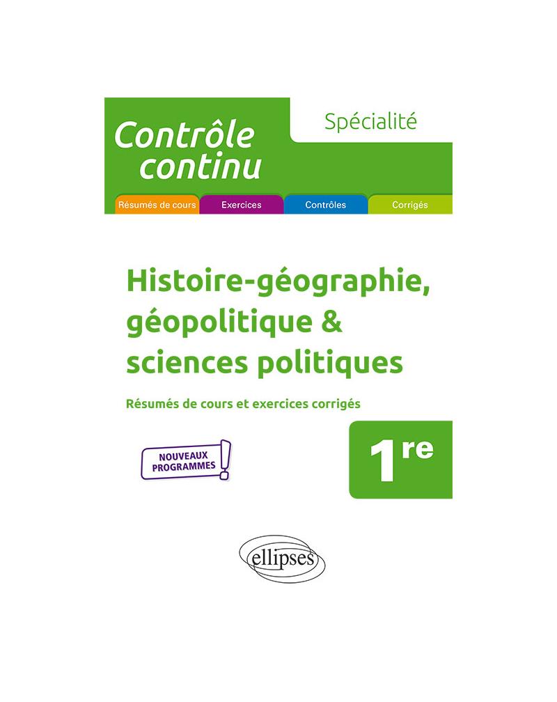 Spécialité Histoire-géographie, géopolitique & sciences politiques - Première - Nouveaux programmes