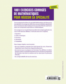 1001 exercices corrigés pour réussir sa spécialité Mathématiques - Première - Nouveaux programmes