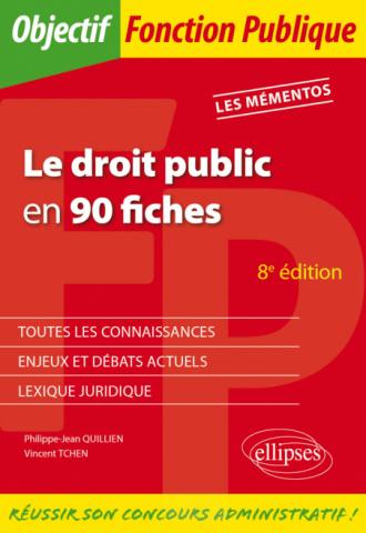 Le droit public en 90 fiches - 8e édition