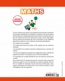 Mathématiques seconde - Pour se préparer efficacement à la spécialité de Première - nouveaux programmes