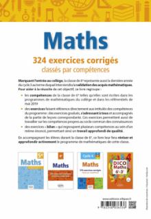 Mathématiques - 324 exercices corrigés classés par compétences - 6e