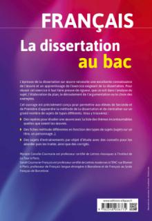La dissertation de français au bac, Seconde Première