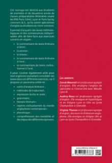 L'Anglais en Hypokhâgne/Khâgne Concours A/L - Approche méthodologique