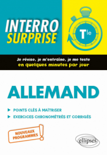Allemand. Interro surprise. Classe de Terminale. Nouveaux programmes