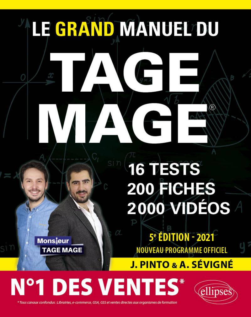 Le Grand Manuel du TAGE MAGE – N°1 DES VENTES – 16 tests blancs + 200 fiches de cours + 2000 vidéos – Édition 2021