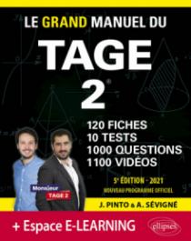 Le Grand Manuel du TAGE 2 – 10 tests blancs + 120 fiches de cours + 1000 vidéos – Édition 2021