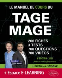 Le Manuel de Cours du TAGE MAGE – 3 tests blancs + 200 fiches de cours + 700 questions + 700 vidéos – Édition 2021