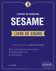 L'Expert du concours SESAME - Le livre de cours