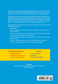 Anglais. Enseignement de spécialité de langues, littératures et cultures étrangères et régionales. Interacting with literature. Classe de terminale