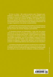 Capes espagnol. Épreuve de composition 2021. Le Greco : être artiste et peindre dans l'Espagne post-tridentine