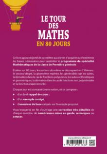 Le tour des Maths en 80 jours - Spé Maths Première générale