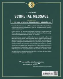 L'Expert du Score IAE Message - 300 questions de Culture Générale, Économique et Managériale