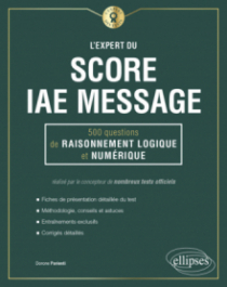 L'Expert du Score IAE Message® - 300 questions de maths