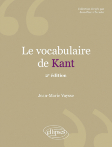 Le vocabulaire de Kant - 2e édition