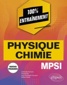 Physique-chimie MPSI - Nouveaux programmes