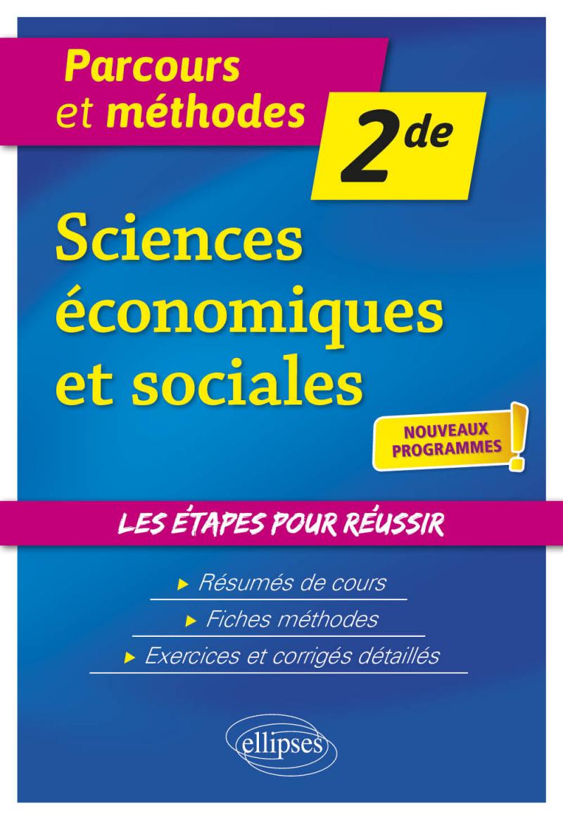 Sciences économiques et sociales - Seconde - nouveaux programmes