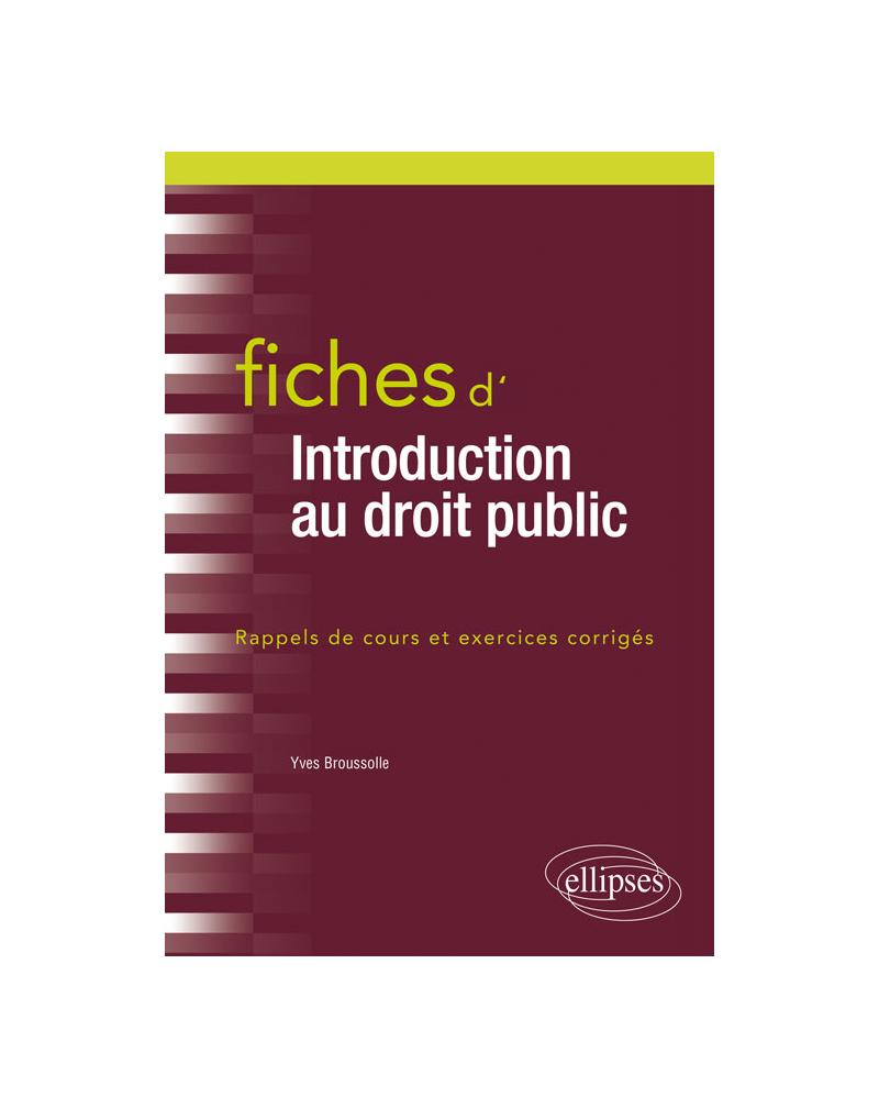 Fiches d'introduction au droit public