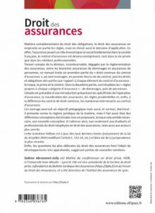Droit des assurances - 3e édition enrichie