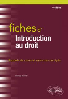 Fiches d'Introduction au droit - 4e édition