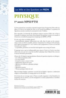 Les 1001 questions de la physique en prépa - 1re année MPSI-PTSI - 3e édition actualisée