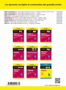 Maths et informatique. PSI. Annales corrigées et commentées. Concours 2015/2016/2017