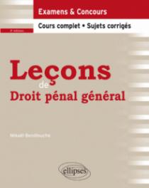 Leçons de Droit pénal général - 3e édition
