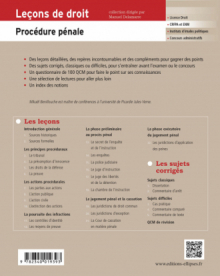 Leçons de Procédure pénale - 3e édition