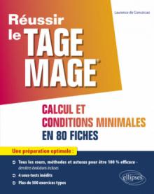 TAGE MAGE - sous-tests 2 et 4 Calcul et Conditions Minimales en 80 fiches