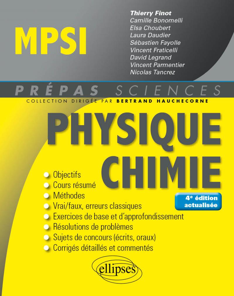 Physique-Chimie MPSI - 4e édition actualisée