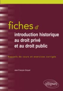 Fiches d'Introduction historique au droit privé et et au droit public