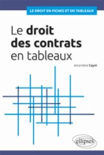 Droit des contrats en tableaux