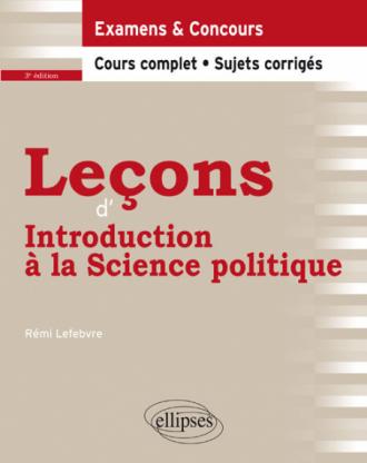 Leçons d'introduction à la Science politique - 3e édition
