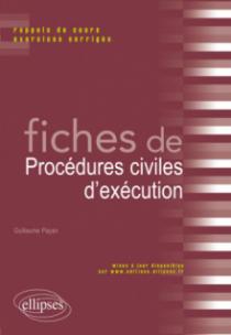 Fiches de Droit de procédures civiles d'éxécution