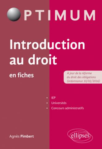 Introduction au droit en fiches