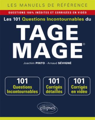 Les 101 questions incontournables du TAGE MAGE® - Questions + corrigés en vidéo
