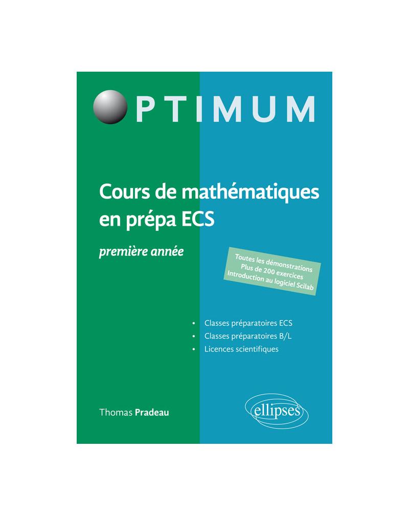 Cours de maths en prépa ECS 1re année