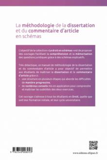 La méthodologie de la dissertation et du commentaire d'article en schémas