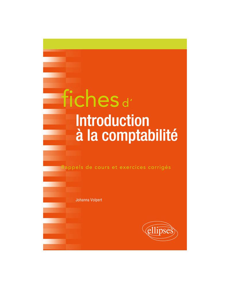 Fiches d'Introduction à la comptabilité
