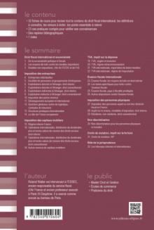 Fiches de droit fiscal international. Rappels de cours et exercices corrigés - 3e édition