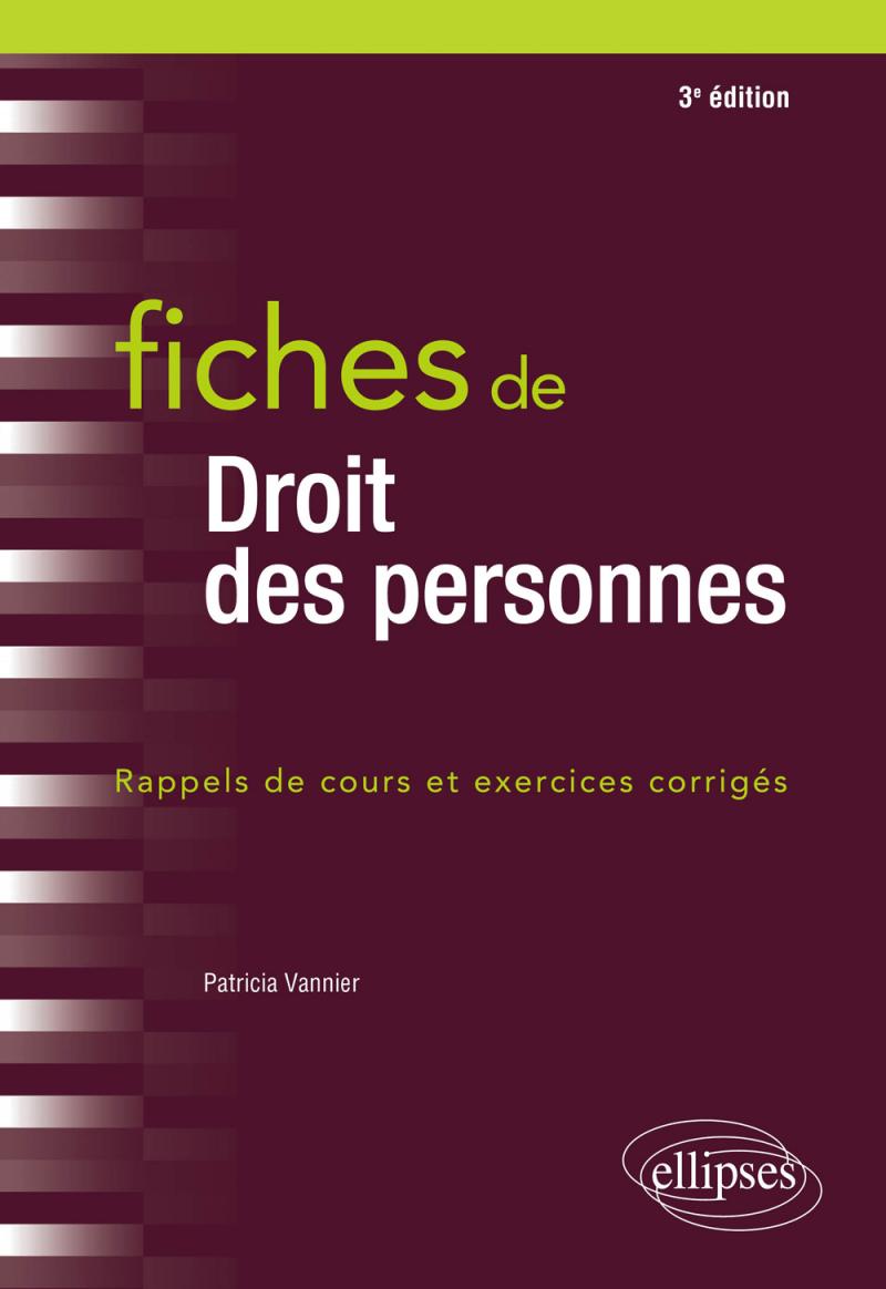 Fiches de droit des personnes - 3e édition
