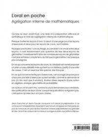 L'oral en poche : Agrégation interne de mathématiques