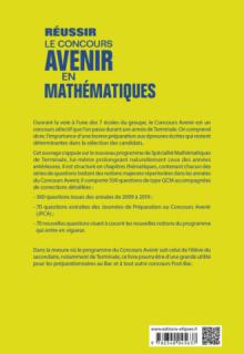 Réussir le concours Avenir en Mathématiques - 8 années de sujets corrigés ou 500 QCM classés par thèmes - Nouveaux programmes