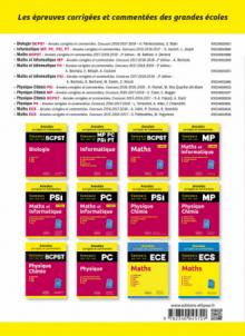 Maths PC, PSI, BCPST. Annales corrigées et commentées 2017-2018-2019-2020. Concours X/ENS