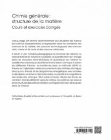 Chimie Générale : structure de la matière - Cours et exercices corrigés