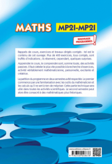 Maths, résumé de cours, exercices et travaux dirigés corrigés - MPSI et MP2I - Nouveaux programmes