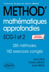 Mathématiques approfondies - ECG 1re et 2e années - Nouveaux programmes