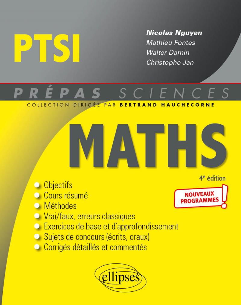 Mathématiques PTSI - Nouveaux programmes - 4e édition