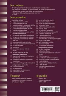 Fiches d'Institutions internationales - 4e édition