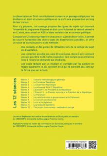 La dissertation en droit constitutionnel illustrée par des copies d'étudiants