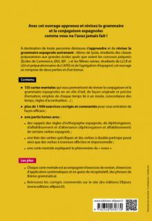 Espagnol. Grammaire en cartes mentales avec exercices corrigés et commentés. B1-C1